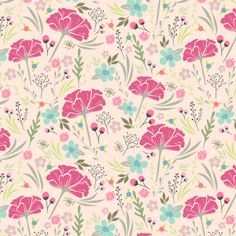 Pastel floral pattern Art Print