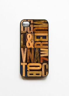 Letterpress iPhone 4 case....love it!