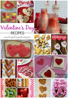 Want to make the perfect Valentine's Day Meal. Take a look at these Valentines Day Food Ideas for Kids and Adults - Dessert, Breakfast, Lunch, and Snacks. Great Kids Party Ideas for February 14th. Heart Fruit, Pretzels, JELL-O, Smoothies, Peeps and More on Frugal Coupon Living.