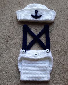 Newborn sailor propInfant photo propSailor by StarrySkiesBoutique