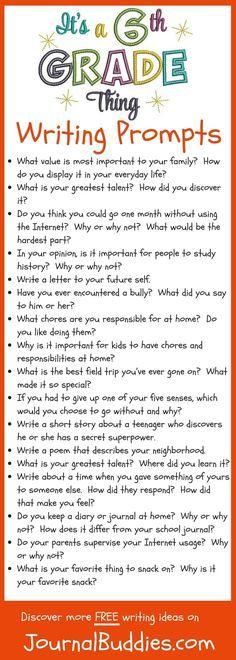 Descriptive writing topics for 6th grade good topics to write a proposal on