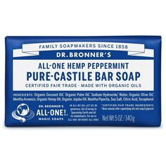Dr. Bronner's Magic Soaps Pure-Castile Soap, All-One Hemp Peppermint,... ($23) ❤ liked on Polyvore featuring beauty products, bath & body products and body cleansers