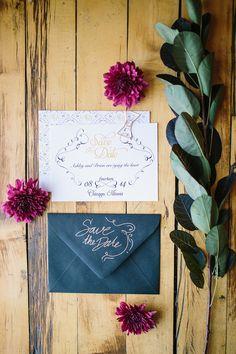 inspiring invitations, photo by Booth Photographics http://ruffledblog.com/the-notwedding-chicago #weddinginvitations #stationery