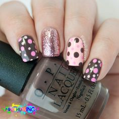 20 Cute Dotticure and Polka Dots Nail Arts Ideas Amazing nails, varnish and nail designs to inspire a product photographer based in Bury St. Edmunds, Suffolk Source by jeninoakes Nail Art Designs, Pretty Nail Designs, Nails Design, Brown Nail Designs, Salon Design, Dot Nail Art, Polka Dot Nails, Polka Dots, Brown Nails