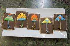 Umbrella Iced Cookies