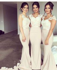 Sleeveless Bridesmaid Dress,Appliques Mermaid Bridesmaid Dresses 1427