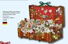 CHRISTMAS TREASURE CHEST ADVENT CALENDAR by Barbara Behr Coppenrath Germany