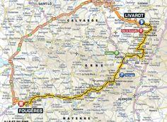 Tour de France 2015 Stage 7 route map