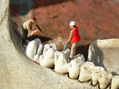 Filling... / by Slinkachu  /  The little people project