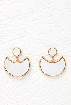 Faux Marble Crescent Earrings | Forever 21 - 1000131994