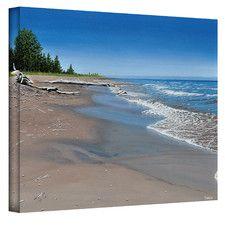 ''Driftwood Beach'' by Ken Kirsch Photographic Print on Canvas