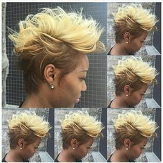 Cut and color Dope Hairstyles, Cute Hairstyles For Short Hair, Curly Hair Styles, Natural Hair Styles, Love Hair, Great Hair, Gorgeous Hair, Sassy Hair, Edgy Hair