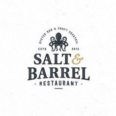 Create a modern urban logo for the classic oyster/speakeasy bar Resturant Logo, Restaurant Branding, Typography Design, Branding Design, Pub Logo, Roofing Logo, Grill Logo, Badge Logo, Retro Logos