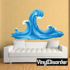 Ocean Waves Wall Decal - Vinyl Car Sticker - 5