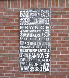 Custom subway art sign multiple address sign by steponitart