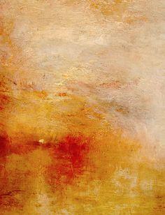 Sun Setting over a Lake (detail), J. M. W. Turner