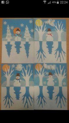 Sneeuwpop in de sneeuw.