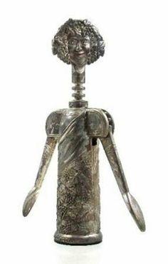 Godinger Baccchus wine opener corkscrew made in Italy.