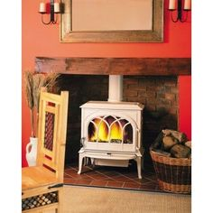 F400CB Cast Iron Wood Heater, Solid Fuel Fireplaces