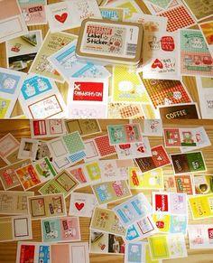 Korea DIY Decoden Deco Iron Boxes Missma Label Sticker Sets. $5.60, via Etsy.