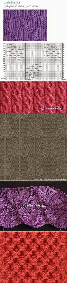 Узоры для вязания спицами 130