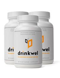 """We're the generation of detox/retox. We work out, we eat well, and then we drink. A lot.  the pioneers over at Drinkwel developed """"The World's First Daily Multivitamin For Healthy People Who Drink."""" Created by two Berkeley grads, Drinkwel's ingredients are designed to replenish nutrients, process alcohol-induced toxins and support healthy liver function. Founders Mike and Greg personally guarantee you'll feel better with Drinkwel, or they'll give you all your money back, including shipping."""