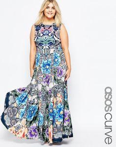 ASOS CURVE Maxi Dress in Floral Paisley Print at asos.com d62649d80de
