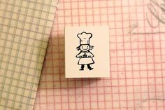 Cute Little Chef wooden stamp $4.50