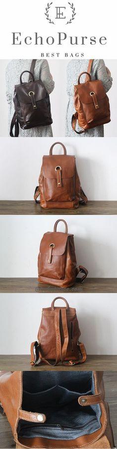 Handmade Women Fashion Backpack, Leather Packsack PPM2109