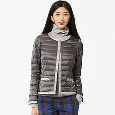 WOMEN Ultra Light Down Compact Jacket (Color Block)