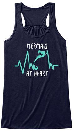 Mermaid At Heart Midnight Women's Tank Top Front