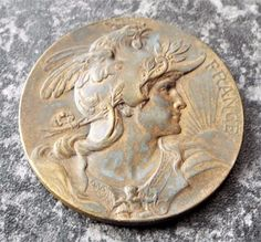 Antique 1926 Societe Centrale D& Medallion / Medal - Louis Bottee Agriculture, Central, Personalized Items, Antiques, Ebay, Antiquities, Antique