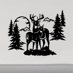 RV Camper Decals Buck Doe Deer Wheel Motor Home Replacement Decal Hirsch Silhouette, Deer Silhouette, Custom Campers, Rv Campers, Hunting Tattoos, Oracal Vinyl, Wood Burning Patterns, Vinyl Wall Decals, Wall Stickers
