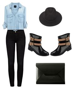 """""""SUMMER?.....WHAT SUMMER!"""" by nonnon-co-uk ❤ liked on Polyvore featuring мода, Brixton, Frame Denim, Melissa и Charbonize"""