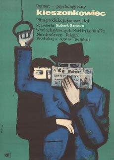 """Pickpocket"", Robert Bresson, 1959 (Polish poster artwork by Maciej Hibner) Polish Movie Posters, Polish Films, Film Posters, Vintage Movies, Vintage Posters, Vintage Ads, Zine, Robert Bresson, Book Jacket"