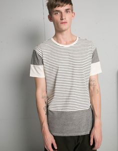 Camiseta rayas textura - Camisetas - Bershka España