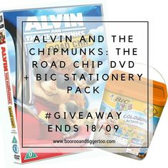 Has your household caught onto the Alvin and The Chipmunks excitement yet?  The BIC Kids team has!  Because they love these furry little guys so much they are offering an amazing prize  An ultimate family road trip for four to Spain!  Whilst I can't offer you a trip to Spain I do have three Alvin and The Chipmunks: The Road Chip DVDs and BIC Stationery packs to giveaway #ontheblog - ends 18/09
