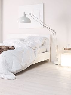Stoneware floor tiles TREVERK by MARAZZI GROUP #parquet #wood #bedroom #white @Marazzi