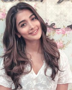 Pooja Hegde Indian Long Hair Braid, Braids For Long Hair, Beautiful Celebrities, Beautiful Actresses, India Beauty, Asian Beauty, Girl Hair Colors, Senior Girl Poses, Exotic Women