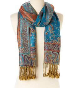 Blue Paisley Scarf by Italmode