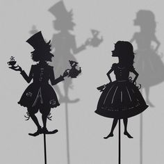 shadow puppets | Alice in Wonderland - Shadow Puppets