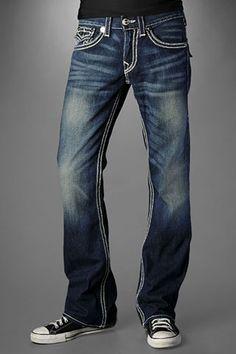 True Religion Men's Billy QT - Rusty Barrel Med Jeans