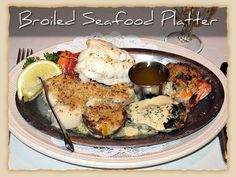 Broiled Seafood Platter: 6 ounce South African cold water lobster tail, scallops, Oyster Rockefeller, stuffed clam, stuffed shrimp, fillet of sole. #BravoFrancoRistorante #BravoFranco #ItalianCuisine #Italian #Food #Dinner #Restaurant #Pittsburgh #PA #Menu #FineDining