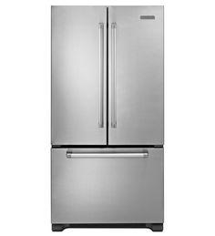 KitchenAid 22® Cu. Ft. Counter-Depth French Door Refrigerator, Pro Line Series (KFCP22EXMP Stainless Steel) |