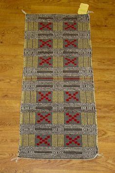 "Curley Kinlichee | double weave diamond twill | handspun wool | 22"" x 49"" | Arizona, U.S.A. | c. 1960"