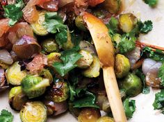 Ottolenghi's roasted brussels sprouts with pomelo and star anise