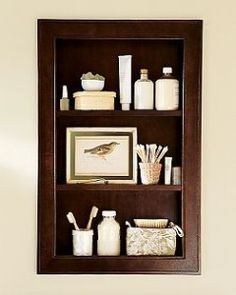 Want to build on side walls of master bath sink area for additional storage / decor space