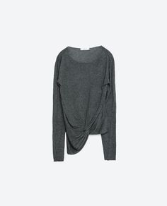 Image 8 of ASYMMETRIC SWEATER WITH KNOT from Zara