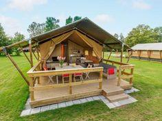 6-Personen möbliertes Lodge-Zelt im Ferienpark de Twee Bruggen in #Holland