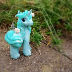 Forget Me Not rose garden pastel Filly  By Whisper Fillies Whisperfillies.etsy.com Unique handmade polymer clay horse, pony, unicorn and fantasy creatures  Find me on Instagram and Facebook too!